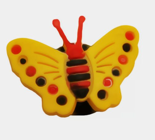 Pin per Crocs o braccialetti Yellow Butterfly