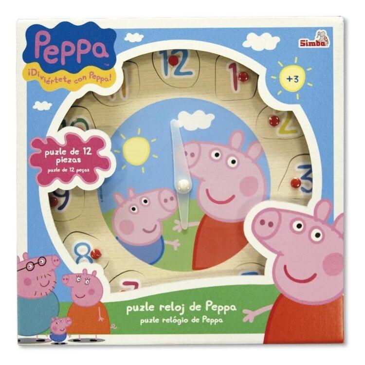 Peppa Pig - Puzzle e orologio di legno