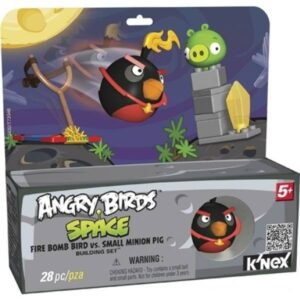 Catapulta Angry Birds nero e Minion Pig