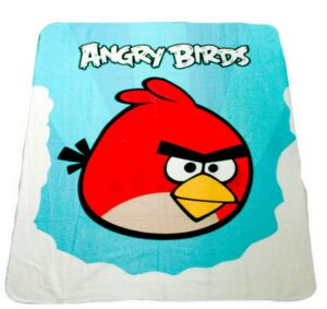 Plaid pile Angry Birds Nuvole