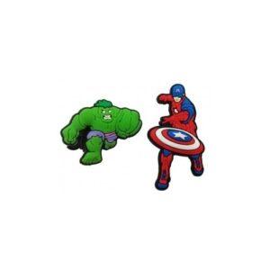 Set 2 Jibbitz per Crocs Avengers