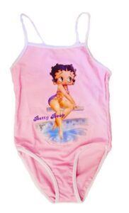 Costume intero Betty Boop rosa