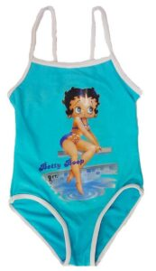 Costume intero Betty Boop celeste