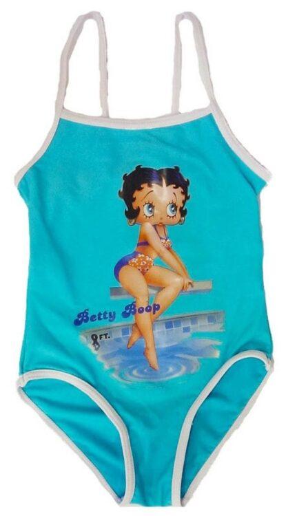 Costume intero Betty Boop celeste