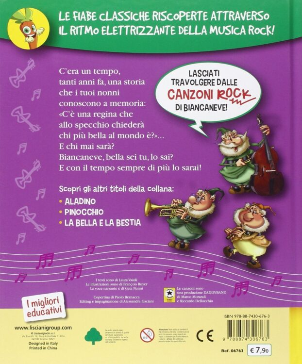 Biancaneve Fiabe rock con CD Audio