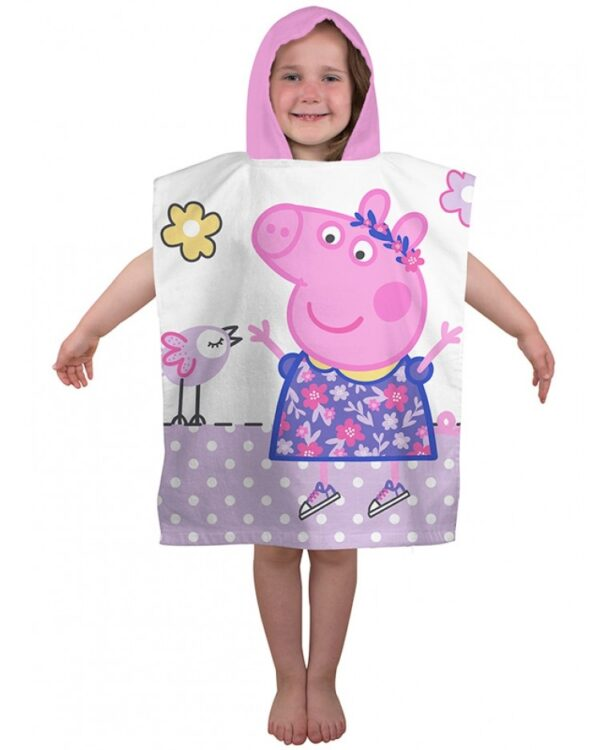 Accappatoio poncho Peppa Pig Happy