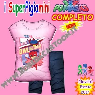 Completo bambina Super Pigiamini Rosa/Blu