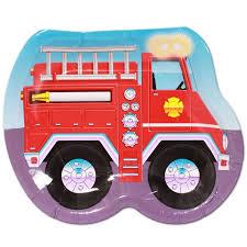 Piatti festa Camion Pompieri