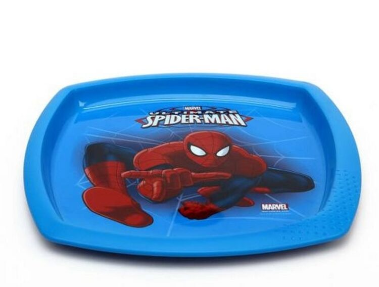 Piatto sagomato in plastica Spiderman