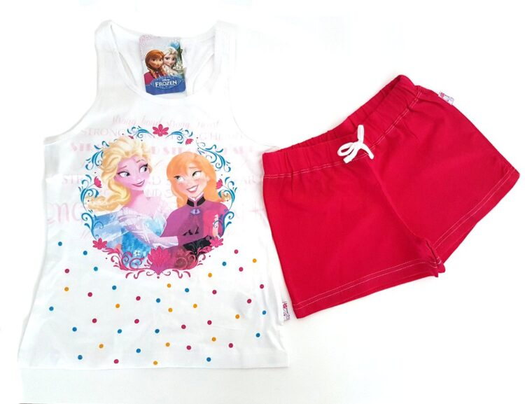 Completo canotta e shorts Disney Frozen