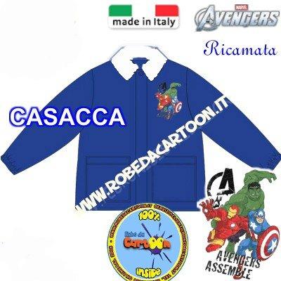 Casacca scuola elementare Marvel Avengers blu