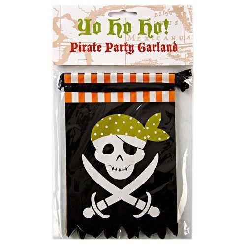 Festone bandierine Pirati 2 metri e mezzo