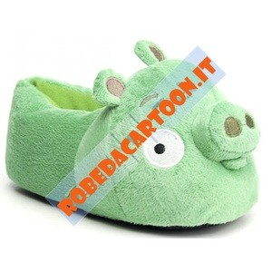 Pantofole in peluche Maialino Angry Birds 3D