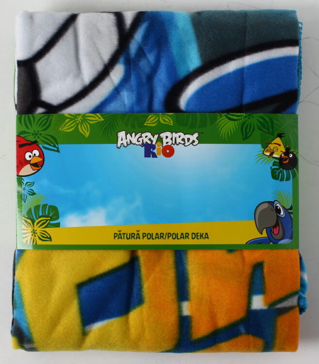 Plaid pile Angry Birds Rio Fowl Play