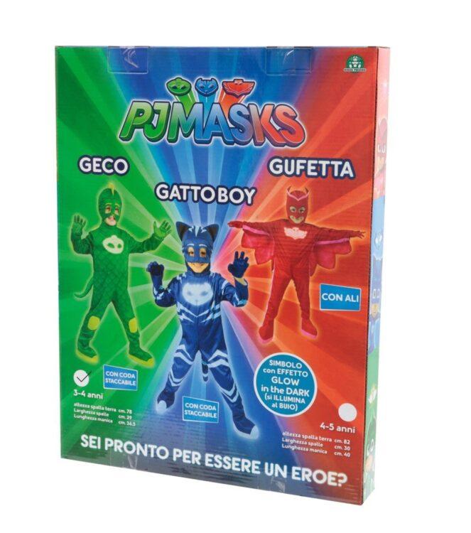 Costume carnevale Geco Pj Masks Super Pigiamini DeLuxe