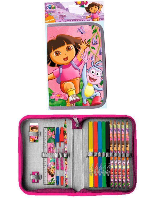 Astuccio completo Dora l'Esploratrice con zip