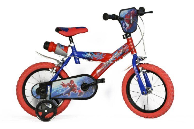 Bicicletta con rotelle Spiderman 12 pollici 3-5 anni