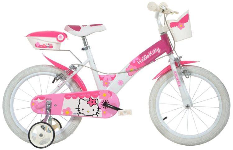 Bicicletta con rotelle Hello Kitty 16 polici 6-9 anni