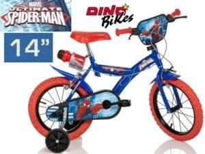 Bicicletta con rotelle Spiderman 14 pollici