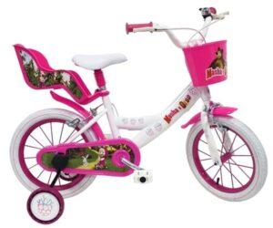 Bicicletta con rotelle Masha e Orso 16 pollici