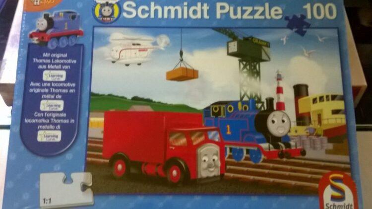 Puzzle 100 pezzi più locomotiva in metallo Trenino Thomas