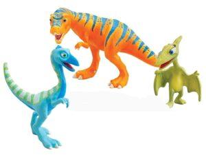Personaggi Treno dei Dinosauri 3pz