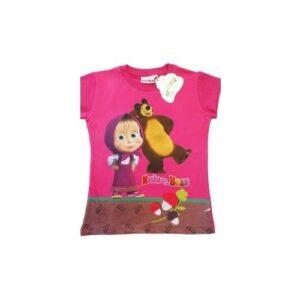 T-shirt mezza manica Masha e Orso