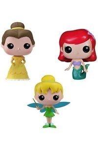 Funko pop! Set 3 personaggi in vinile Disney Trilli, Belle e Ariel
