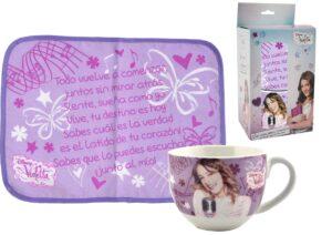 Set regalo tovaglietta più tazza Violetta