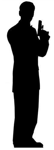 Secret Agent Male, Single Pack sagoma 185 cm H
