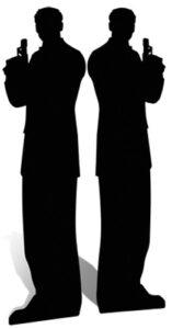 Secret Agent Male, Double Pack sagoma 185 cm H
