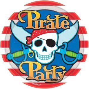Piatti per festa Pirati 23 cm