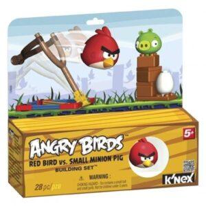Catapulta Angry Birds rosso e Minion Pig