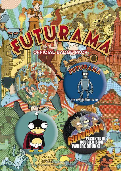 Set 4 spillette Futurama