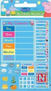 Calendario con magneti Peppa Pig