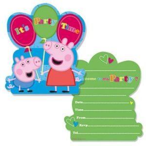 Inviti per festa Peppa Pig