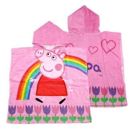 Accappatoio poncho Peppa Pig Arcobaleno