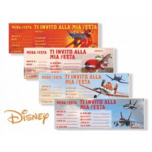 Carnet inviti festa Disney Planes 15pz