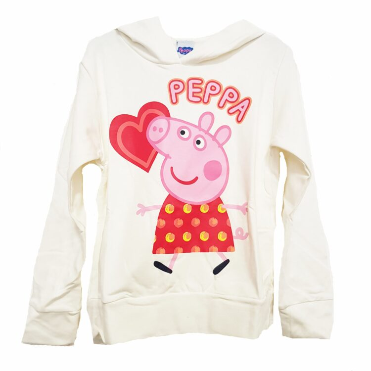 Felpa bimba con cappuccio Peppa Pig Cuore