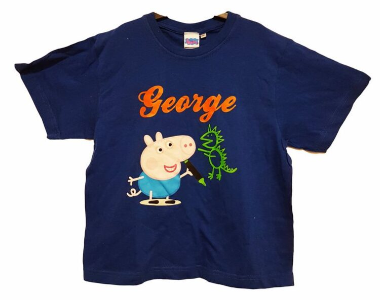 T-shirt Peppa Pig George disegnatore