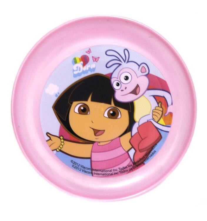 Piatto piano in plastica Dora l'Esploratrice