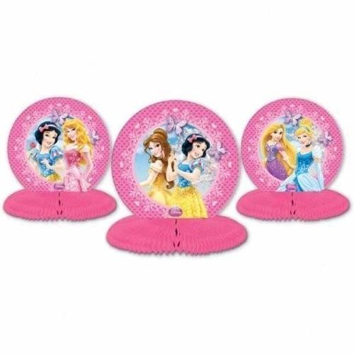 Set 3 centrotavola Principesse Disney