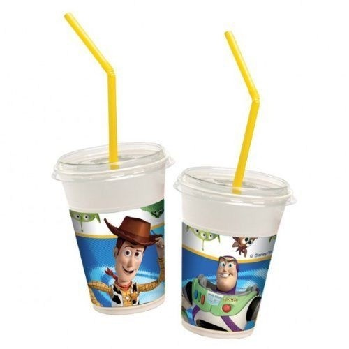Bicchieri con cannuccia Littlest Toy Story 12pz