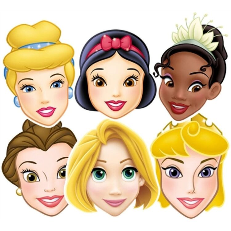Mascherine Principesse Disney conf. da 6