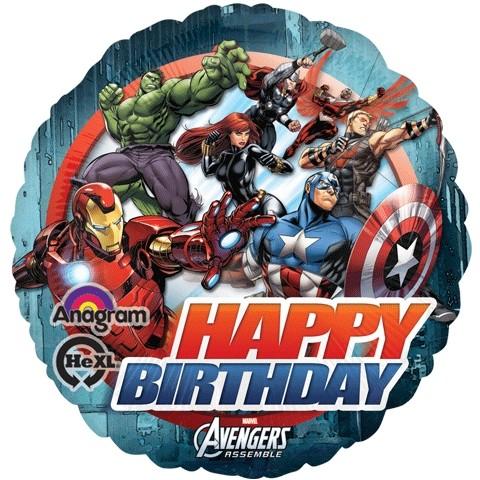 Palloncino Happy Birthday Avengers Assemble