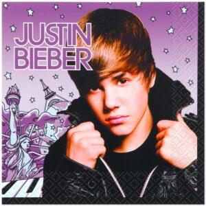 Tovaglioli festa Justin Bieber