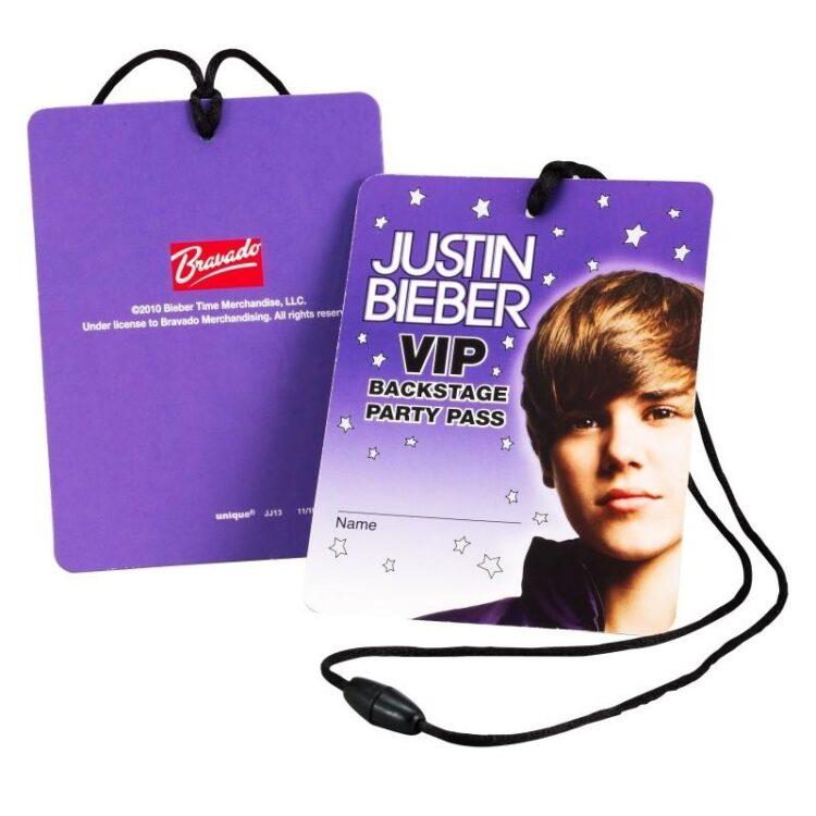 Inviti festa Justin Bieber VIP Pass