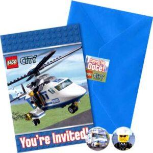 Inviti per festa Lego City