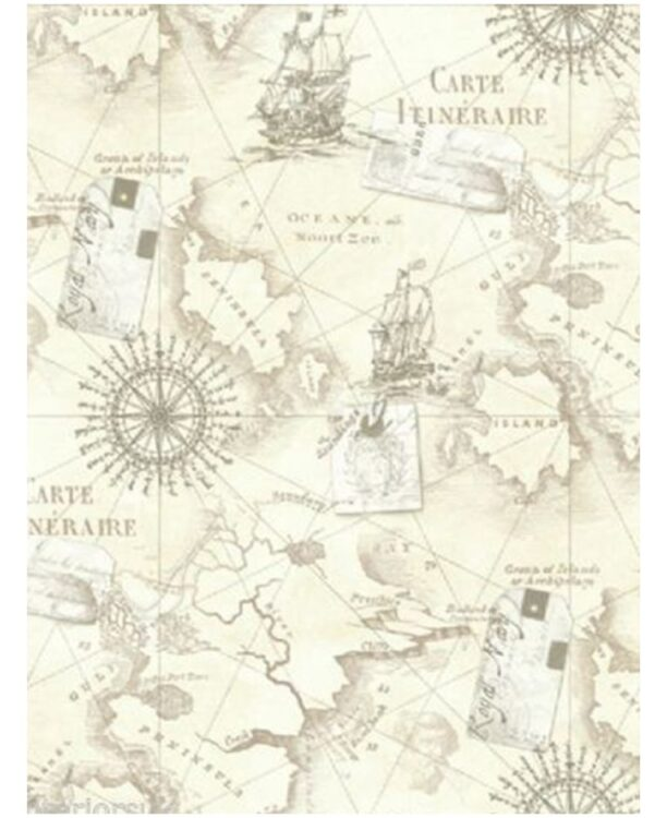 Carta da parati Mappa Nautica Vintage 10mt