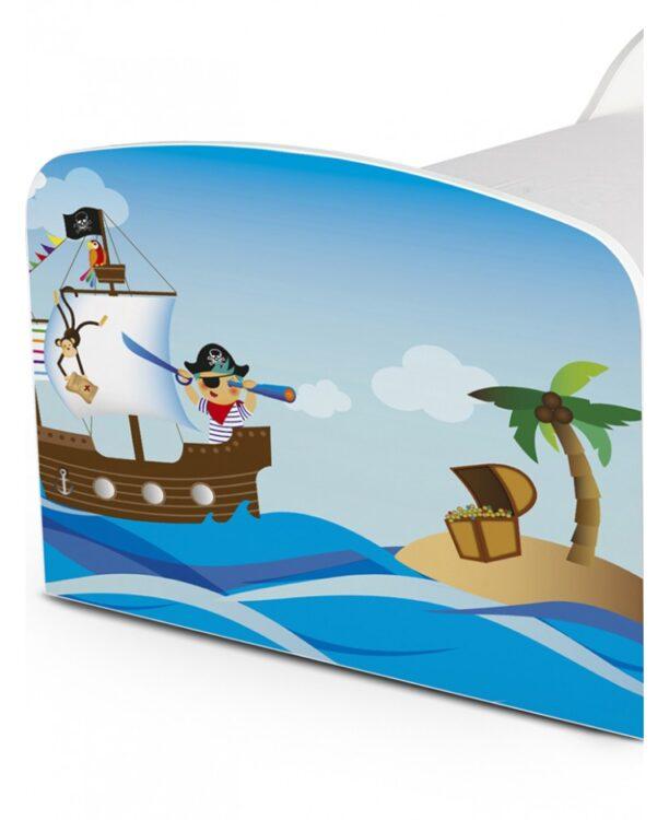 Lettino Pirati e tesori con cassettone